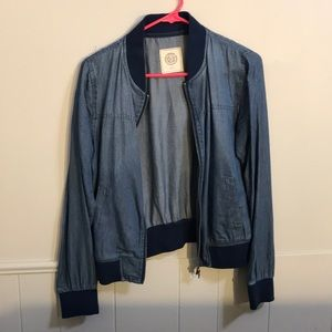 Lightweight jean material jacket